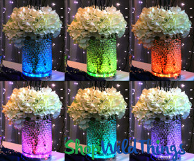 Change the Color of a Vase with a ShopWildThings.com Light Disc Underneath