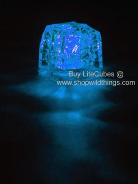 LED Ice Cube LiteCubes - Blue Light - Flashing or Steady - Waterproof, Freezable