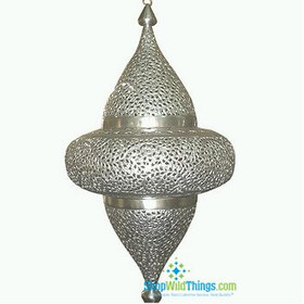 Marrackech Moroccan Tyre Lamp - Silver - Large Over 2 Feet Tall)