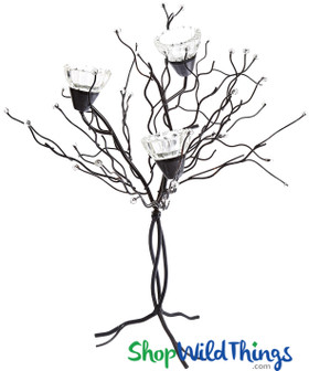 Candle Tree Metal and Glass Tabletop Centerpieces ShopWildThings.com