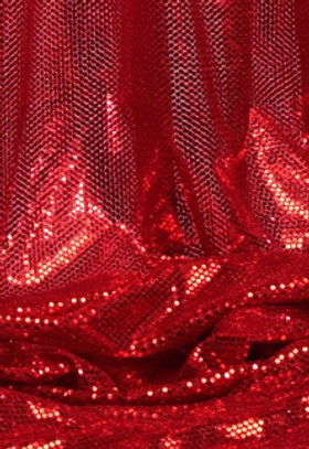 """""""Ritzy Round"""" Spangles - Red - Fabric 44"""" x 5 yards"""