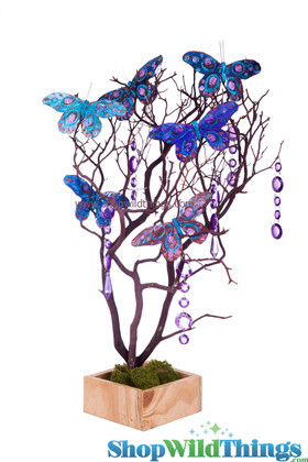 Brown Natural Manzanita Tree in Wooden Base - Centerpieces