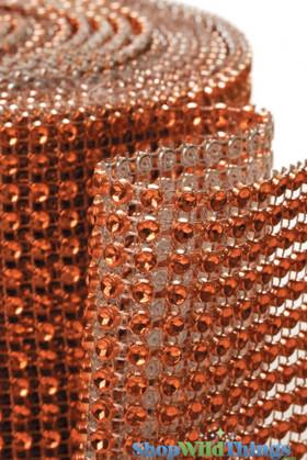 """Diamond Wrap Rolls Orange 4"""" Wide x 30' Long"""