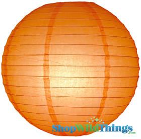 """BOGO Round Paper Lantern 8"""" Orange"""