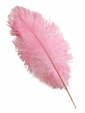 "Pink Ostrich Feathers 13"" - 15"" - SPADS"