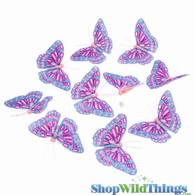 Garland -  Butterflies -  Pink Glitter - 5.5 Feet Long