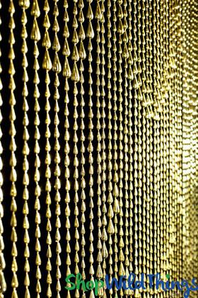 Metallic Gold Raindrops Beaded Curtain Door Beads ShopWildthings.com