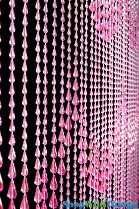 Pink Raindrop Curtain Door Beads | ShopWildthings.com