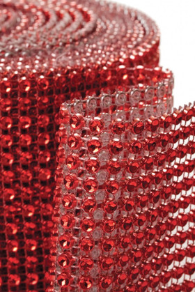 "Diamond Wrap Rolls Red 4"" Wide x 30' Long"