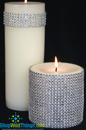 """Diamond Wrap Rolls Silver - 4"""" Wide  x 30 ft Long! Trimmable!"""