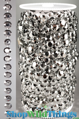 Roll of Beads 33 Yards (99 ft) - Diamonds Silver