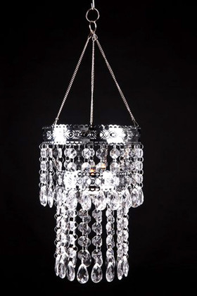 """Hanging Beaded Candle Holder """"Lexie"""" - 8"""""""