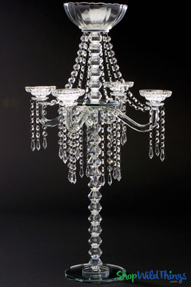 Tall Crystal Candelabra ShopWildThings High Quality Large Centerpieces Wedding Tabletop Decor