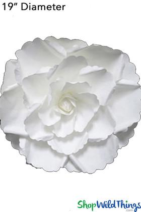 Paper flowers, 3 dimensional wall decor | Giant rose gardenia | Artificial flower walls | Fiber Paper Flowers | ShopWildThings.com