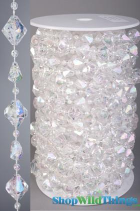 Rolls of Beads 20 Yards (60 ft) - Gemstones Crystal Iridescent