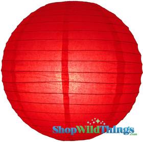 """Round Paper Lantern 12"""" Red"""