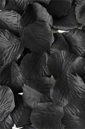 Silk Rose Petals - Black - Bag of 300 pcs