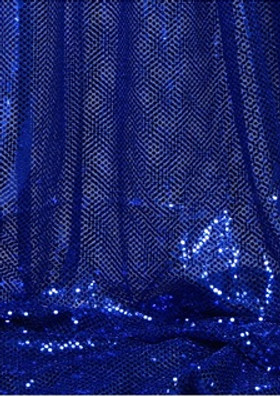 """Ritzy Round"" Spangles - Royal Blue - Fabric 44"" x 5 yards"