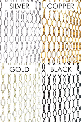 Custom Room Divider Door Beads Metal Chain Color Options ShopWildThings Made in USA