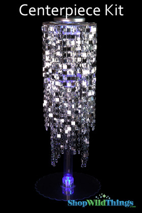 "Centerpiece Elevate Kit - ""Kalina"" Silver Beaded Centerpiece on 29"" Riser"