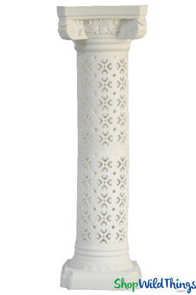 Roman Pillar Stands White Tall Stands | ShopWildThings.com