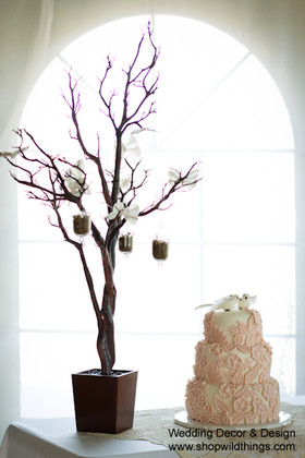 Tree in Pot, 4 Feet Tall - Natural Brown (Bendable!)
