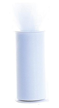 """Tulle Roll Plain White 6""""x 25 yds"""
