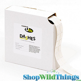 U Glu Dashes - Oasis Adhesive Dashes 1,000 Pc Roll - Super Strength, Instant Bond, Waterproof, Removeable!