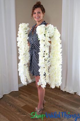 "Artificial Ivory Wisteria Bouquet Cascading Spray   44"" Tropical Silk Flower Draping Garland   ShopWildThings.com"