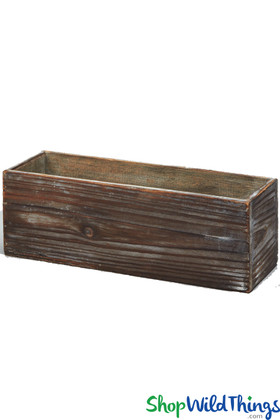 Wooden box for event and wedding centerpieces ShopWildThings.com