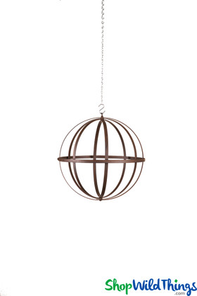 Wrought Iron Folding Ball Sphere, Antique Finish, 12""
