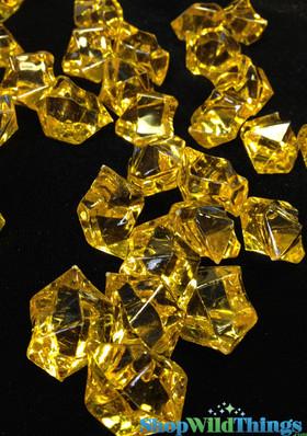 """BOGO Acrylic Yellow Imitation Ice, Pack of 144 """"Makayla"""""""