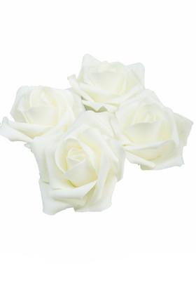 """Real Feel Foam Roses 2"""" - Ivory - 12 Pcs (Floating!)"""