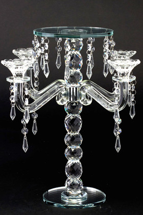 """Real Crystal Candelabra and Centerpiece Riser 15"""" Tall"""