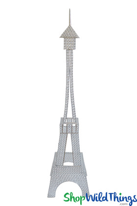 Prestige Crystal Beaded Eiffel Tower Centerpiece, Floor Decor 5'