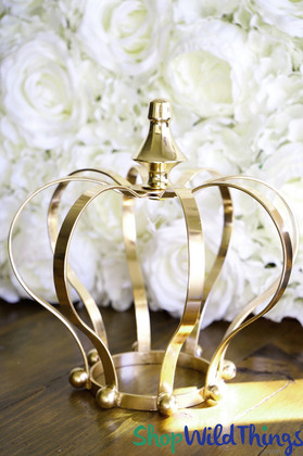 """Crown Centerpiece, Candle Holder, Cake Topper - Gold 8"""""""