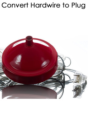Conversion Kit - Direct Connect Hardwire Bohemian Chandeliers to Plug - 14' Red