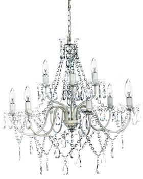 Crystal Beaded Multi-Light Chandelier ShopWildThings.com