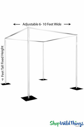 Professional Pipe and Drape Gazebo for Floral and Fabric Installations