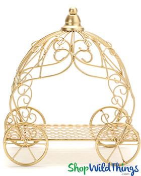 "Cinderella Carriage Fancy Centerpiece - Gold - 10"" x 11 1/2"""
