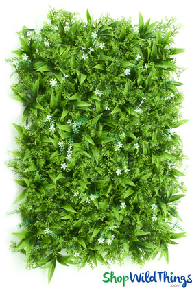 "Assorted Greenery & White Flowers Wall Mat - 23"" x 15"""