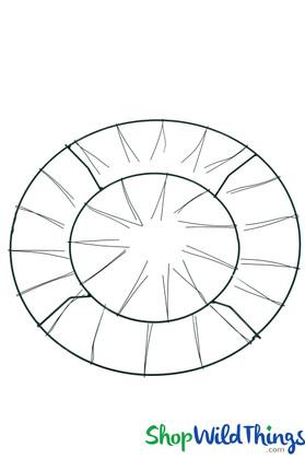"Wire Wreath / Chandelier Form - Double Tier Frame - 20"" Round"