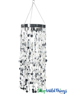 Bubbles Party Chandelier - Silver - 30""