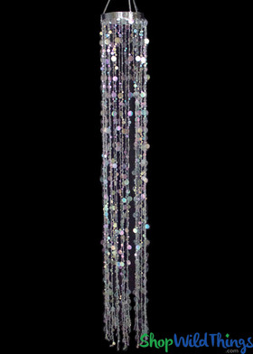 """Bubbles Party Chandelier - Crystal Iridescent - 66"""""""