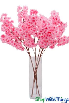 Bubblegum Pink Party Flowers Artificial Silk Flowers ShopWildThings.com