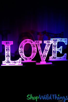 """3-D LOVE Letters Laser Cut Detailing - White - Each 20 1/2""""H x 15 1/2""""W"""
