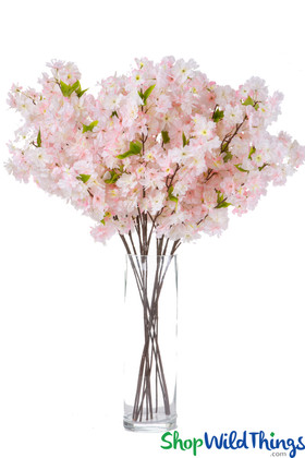 Soft Pink and White Artificial Flowering Branches ShopWildthings.com