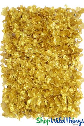 "Flower Wall 15.5"" x 23.5"" Silk Hydrangeas - Metallic Gold"