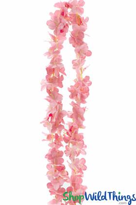 "Plumeria Frangipani Silk Flower Garland - Blush - 80"" Long Expandable! BUY MORE, SAVE MORE!"