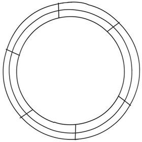 """Wire Wreath / Chandelier Form - Triple Tier Frame - 22"""" Round"""